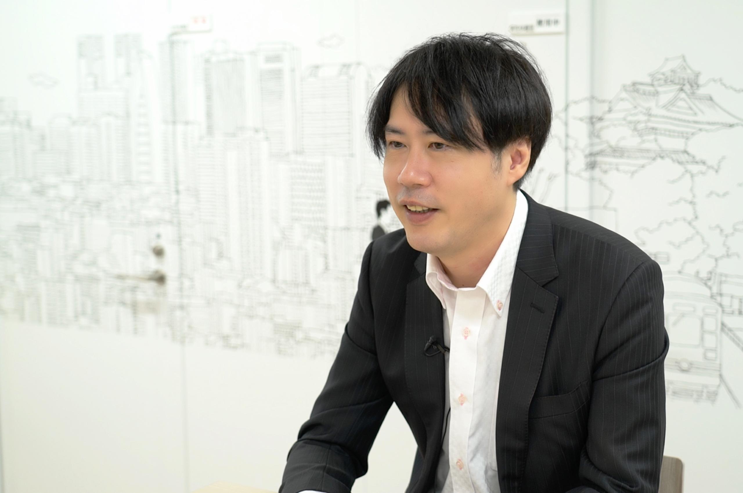 本田さん,インタビュー中