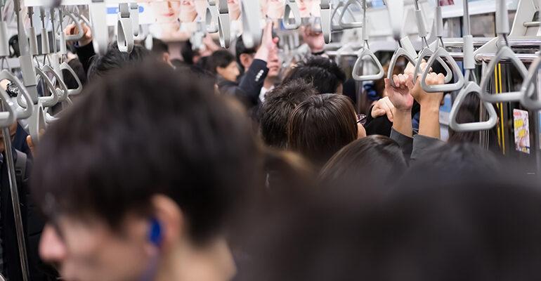 東京の満員電車